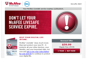 Renew mcafee subscription with activation code